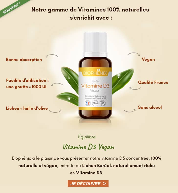vitamine d3 liquide vegan biophenix
